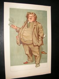 Vanity Fair Print 1912 Gilbert Keith Chesterton, Literary